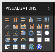 Screenshot showing the Mapbox Visual icon in the Visualizations pane in Power BI