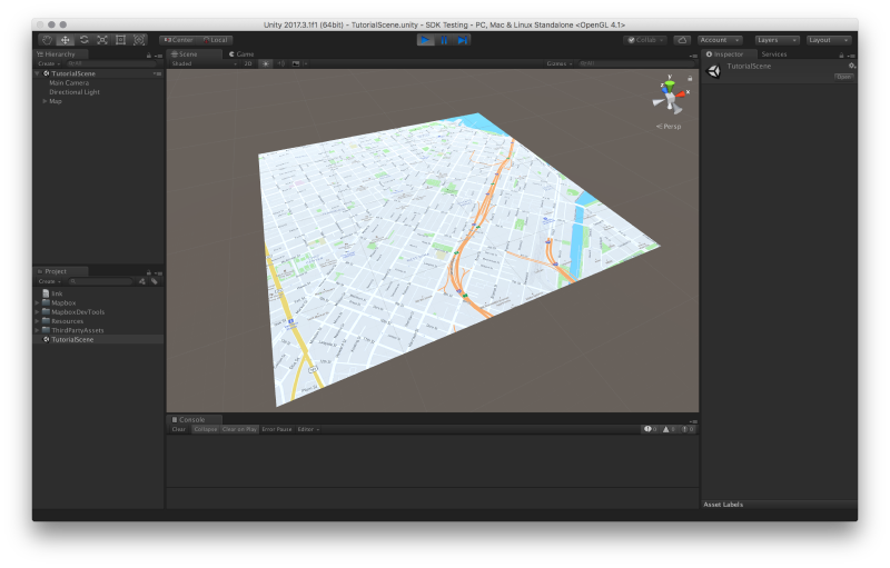 Create a map in Unity | Help | Mapbox