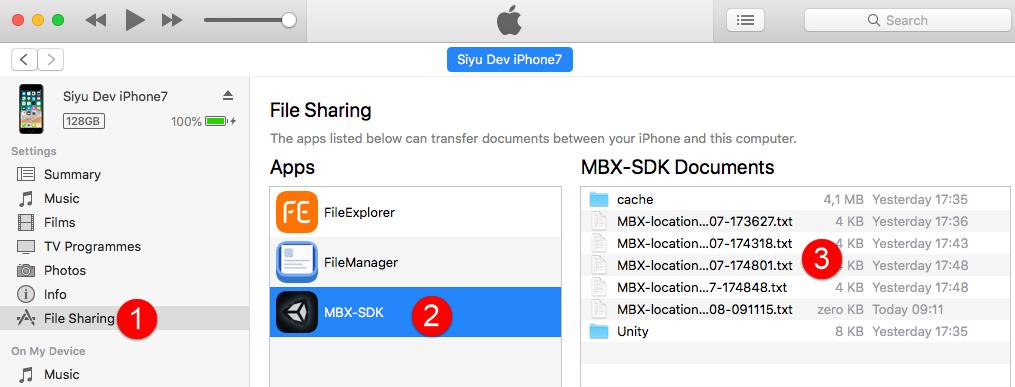 Accessing GPS log files | Mapbox SDK for Unity